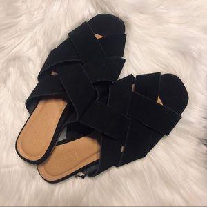 Topshop Black Woven Sandals